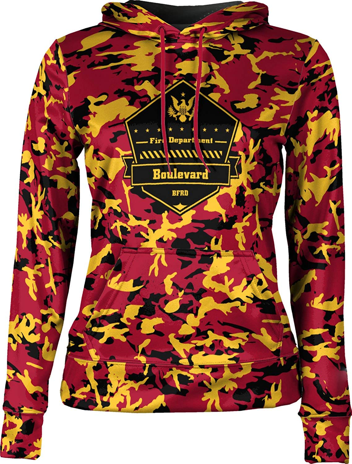 ProSphere Girls' Boulevard Fire and Rescue Department Fire Department Camo Hoodie Sweatshirt
