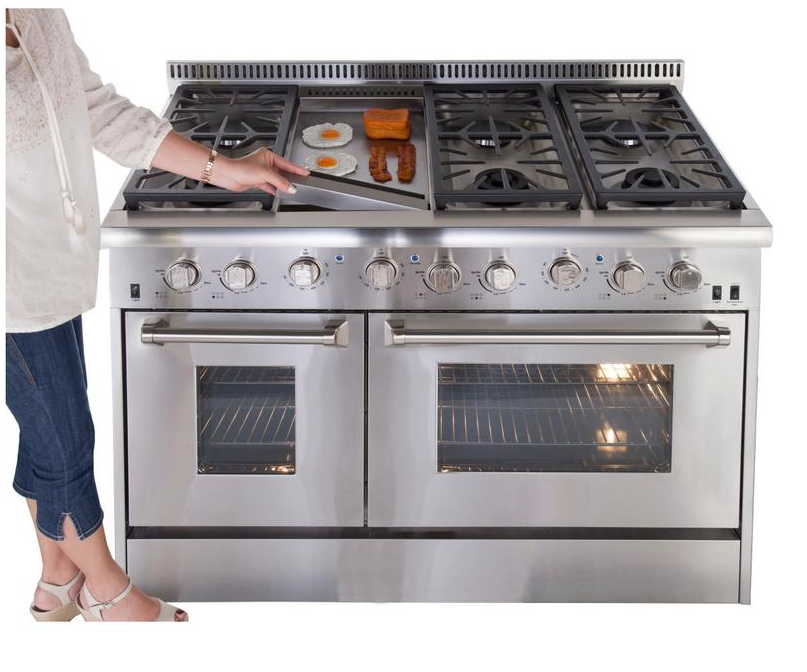 Hyxion 48 Inch free standing gas cooker Range Oven