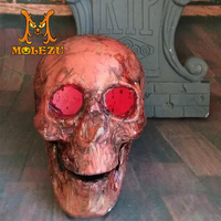 Factory supply customized size non-toxic latex led skull, halloween prop, haunted house decoration