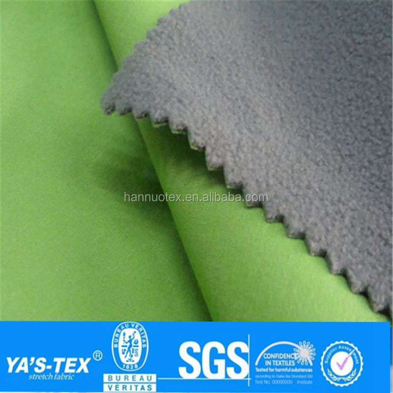 Brushed knit warm and breathable 100% polyester jacket fabric for winter