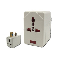 13A multi socket adaptor with fuse and light electrical plugs and sockets