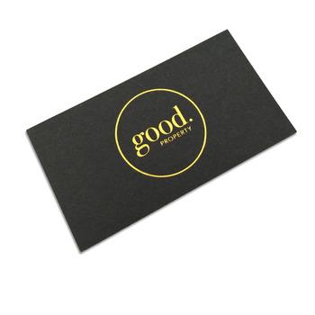 Custom gold silver foil stamping black business card buy gold custom gold silver foil stamping black business card colourmoves