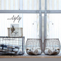 handmade cheap wire baskets for home storage
