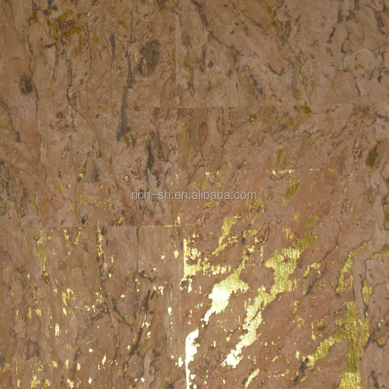 Interior decoration eco-friendly natural cork wall paper RQ-WP002