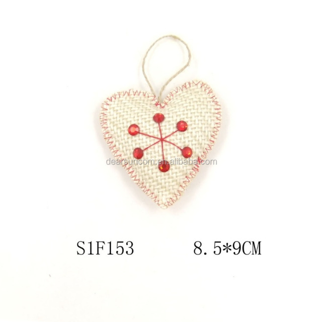 Christmas Tree Plush Hanging Decoration Heart Shape