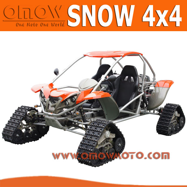 Euro 4 CEE 500cc Snowmobile Lagartas De Borracha Rastreado