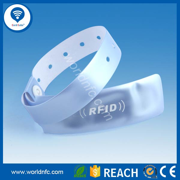 PVC Printed One Time Use Disposable RFID Wristband