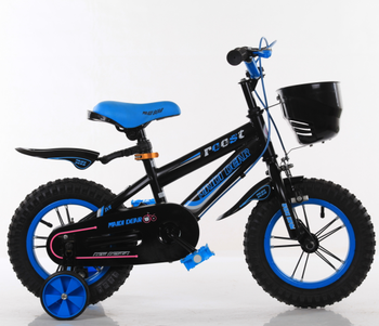 Black Blue Bike Kids 3 5 Years Bicycle With Frost Frame Buy Frost