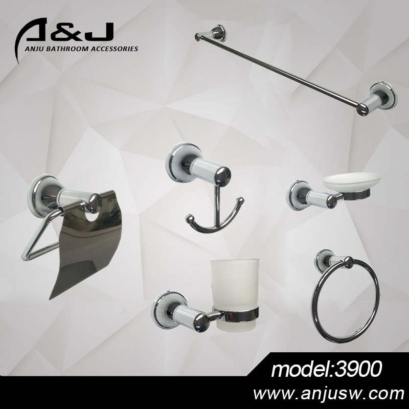 Bath Fittings Zinc Alloy Chrome Plated Bathroom Hardware Set Bathroom Accessories Set Hotel Bathroom Set Towel Rack