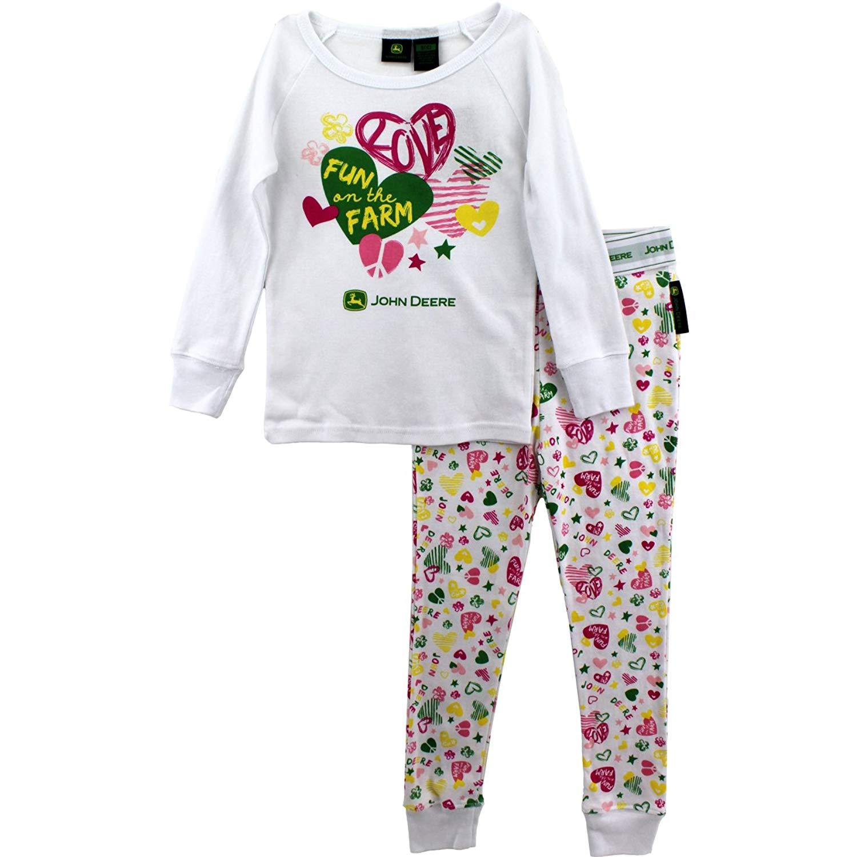 """John Deere """"Fun on the Farm White Pajamas"""