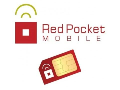 Unlocked Red Pocket GSM SIM Card – No contract, Universal SIM, Nationwide coverage, Only pay for what you use
