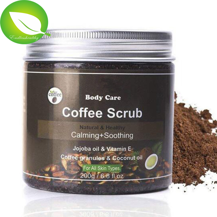 Private label hot selling best price wholesale whitening body scrub 100% natural arabica coffee scrub