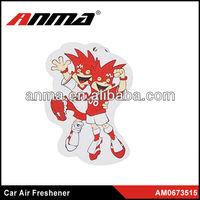 Nice anima cartoon shape car paper air freshener car air freshener tree