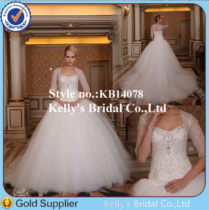 3 4 sleeve wedding dresses ukraine