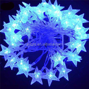 New factory battery powered leds cool light blue star string light/battery operated led fairy light string star shaped