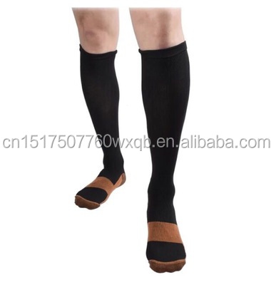 Fast Deliver 3 Pairs Unisex Miracle Copper Compression Socks Knee Anti-fatigue Leg Slimming Socks For Men And Woman Underwear & Sleepwears