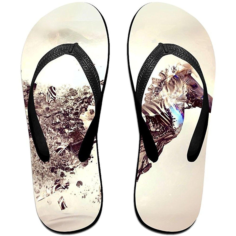 Starmiami Unisex V Flip Flops Artistic Bonsai Explosion Japan Zebra Personalized Summer Slipper