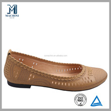 2016 zapatos planos de la manera durable italiano marca ladies zapatos planos