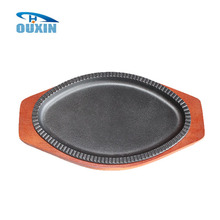 Cast Iron Sizzling Hot BBQ Grill Plate For Sale