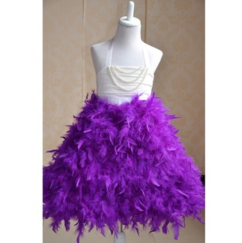 79d23a91c1c8c Cocktail dress with feathers formal cocktail dresses for christmas party  baby flower feather dress feathers for