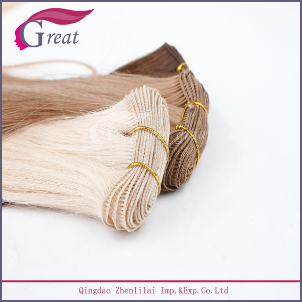 Aliababa Gold Supplier Hand Tied weft Hair Extension