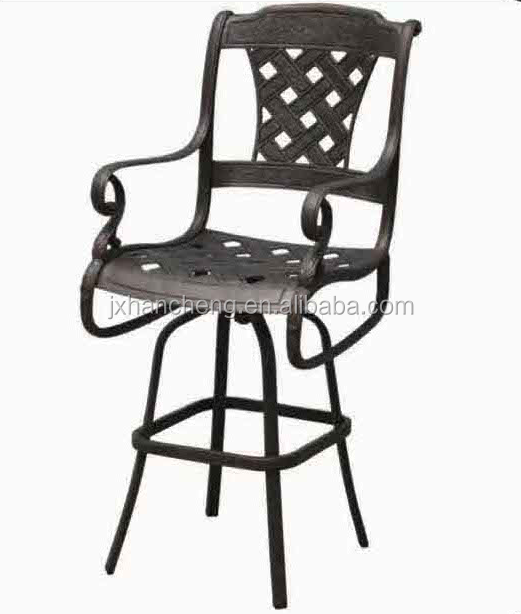 2016 good sale Factory of metel furniture Madrid Swivel Bar Stool Collection cast aluminum patio furniture