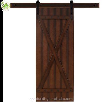 3 Track Modern Single Panel Sliding Rutsic Knotty Alder Wood Closet Door