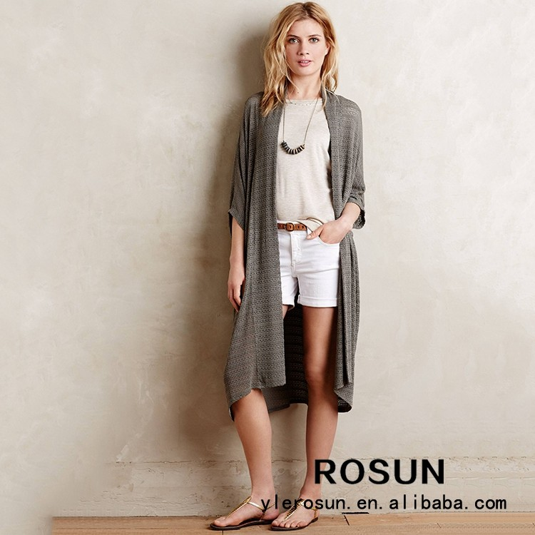 Ladies Long Cardigan Sweater,Spring Short Sleeve Knitted Cardigan ...