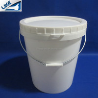 high quality screw lid plastic buckets with handle multifunction usage plastic pail buckets
