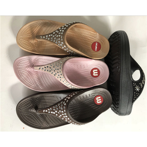 Factory Wholesale Waterproof Women Slippers PVC Lady Flip Flop