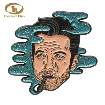 Promotional crafts gifts man shape badge special smoker lapel pin custom metal enamel  lapel pin
