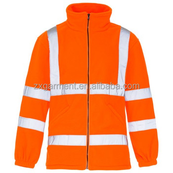 Hi Vis Fleece Jacket construction workwear with EN standards