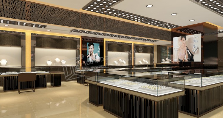 New Design Jewelry Showroom Interior Led Lighting For Display