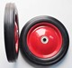 "10"" x 1.75"" Metal Hub Semi Pneumatic Rubber Tire"