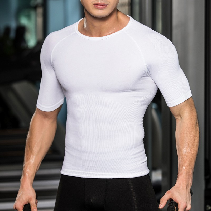 China Factory Plain Jogging And Training Fitness Men Sports Wear,OEM Athletic Men Workout Sport T-Shirts 3