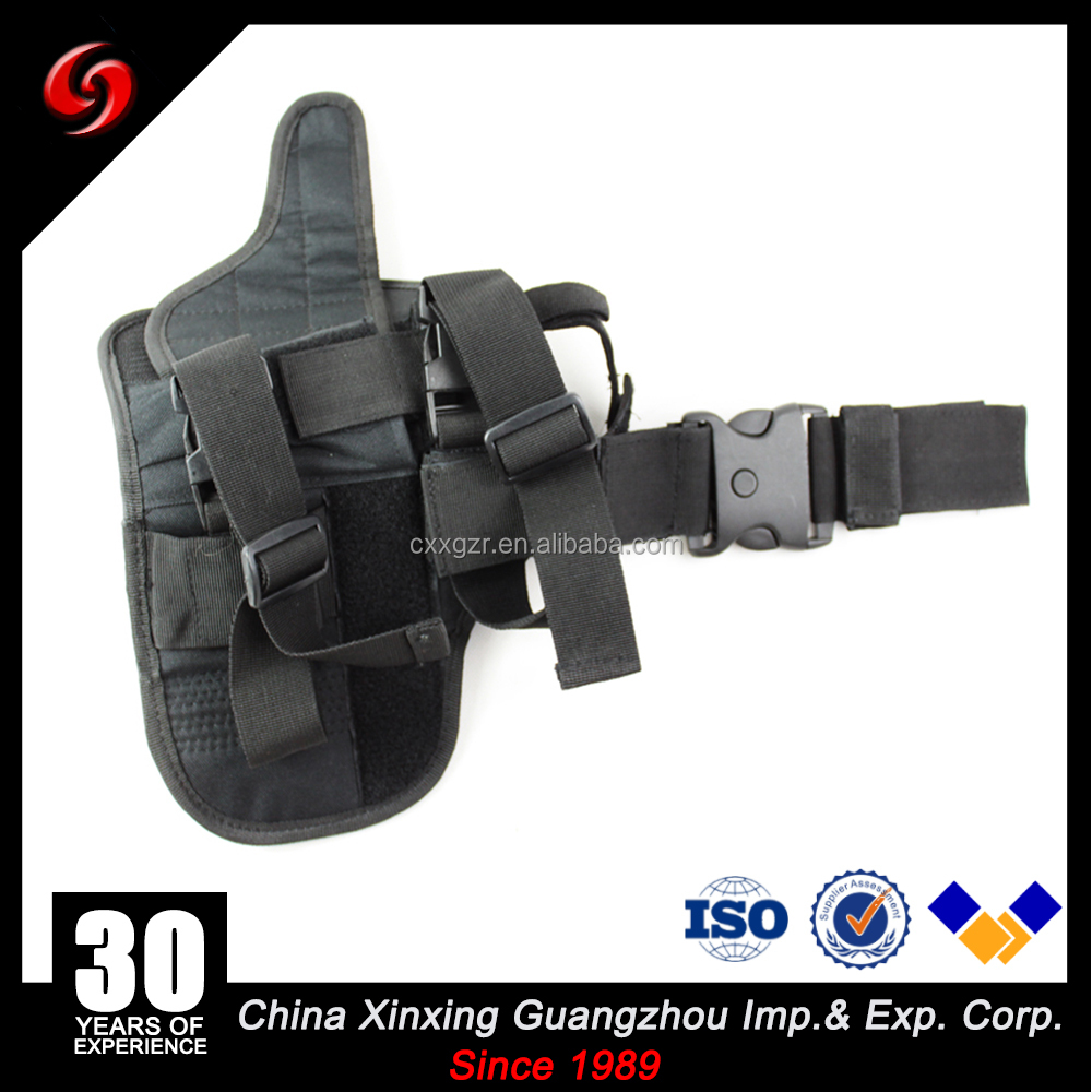 Black soft neoprene belly band gun holster for Military and Police