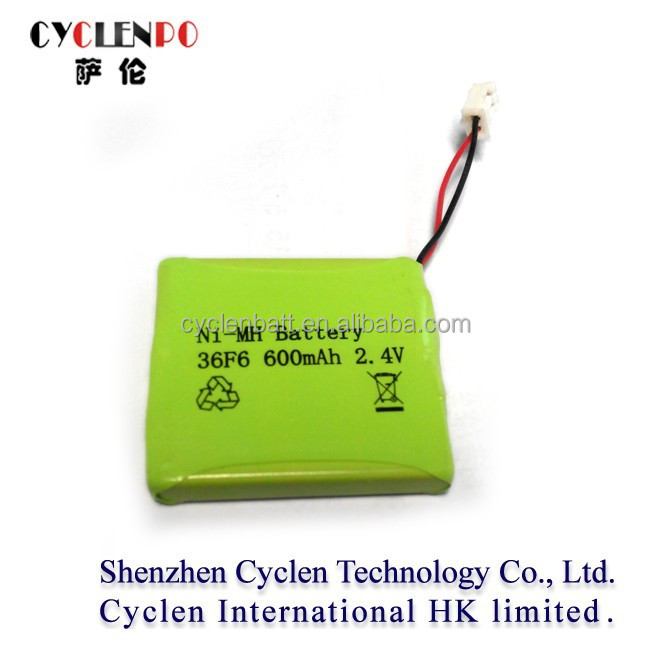 Factory price battery nimh 2.4v 600mah ni-mh aaa battery pack