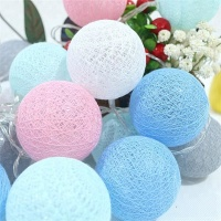 Colored Cotton Balls LED String Lights