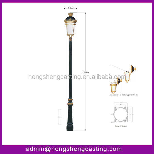 Decorative Light Poles 3.2m vill lamp pole cast iron decorative lamp pole,street lamp