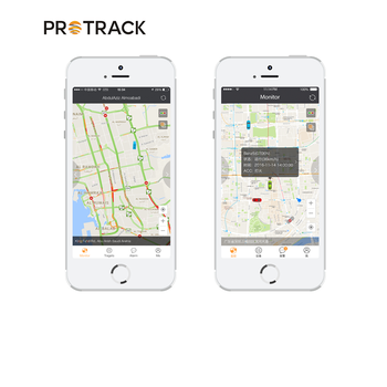 PROTRACK gps tracking system of google map tracked by cellphone and platform gps tracker portable vehicle tracking system