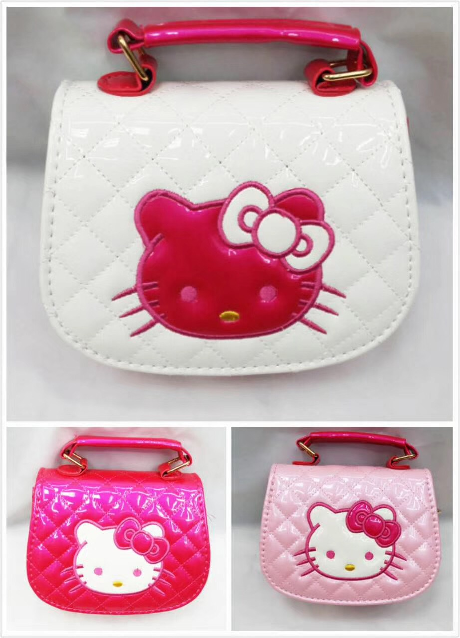 2018 Wholesale Children Cross Body Bags Cute Cat Face Girls Bag