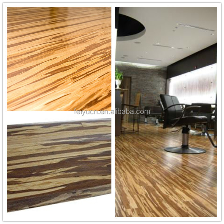 CHOHO Waterproof Indoor Flooring tiger stripe strand woven bamboo flooring/timber flooring /stained CE