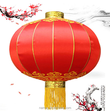 Traditional New Year Silk Red Chinese Palace Lantern