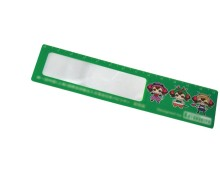 4X 85*55mm PVC bookmark magnifier ruler for promotional gift