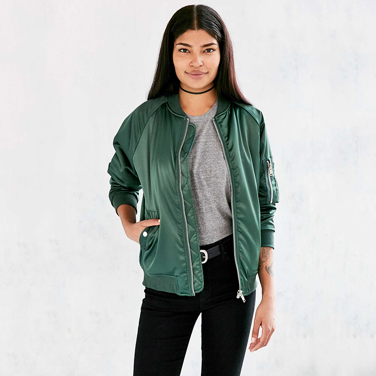 Blank bomber jackets wholesale cheap winter custom satin varsity jackets