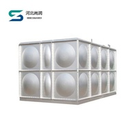 ISO standard square sectional fiber glass grp water tank protect environment
