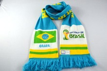 High quality acrylic material football fans scarf