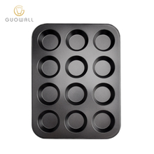 12 Cups Carbon Staal Food Grade Cake Bakvorm Cupcake Anti-aanbak Coating Muffin <span class=keywords><strong>Pan</strong></span>