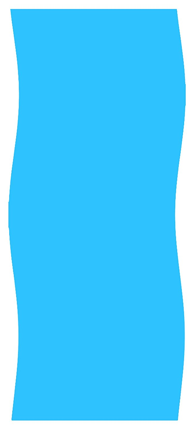Gold Star 15-ft x 24-ft 15x24 foot Oval Overlap Above Ground Swimming Pool Liner - Solid Blue - 20-Gauge