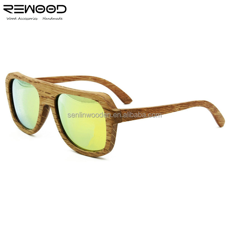 2015 Fashionable brand China custom sunglasses cheap polarized eyewear bamboo wood wooden sunglasses for men & women